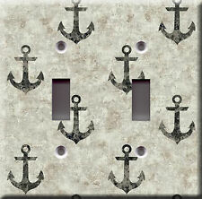 Light Switch Plate Cover - Nautical living anchor - Boat sailboat water ocean
