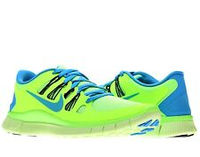 Men's Nike Free 5.0 Running Shoes Sizes 8 thru 10.5  Flash Lime/Blue Hero-blk