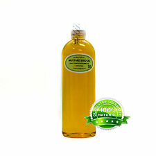 Premium Pure Organic Cold Pressed Best Fresh Mustard Seed Oil 2 oz up to 7 LB