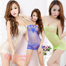 3 Colors New Lingerie Woman Intimate Fishnet Bodystocking Dress Erotic Stripper