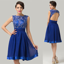 Glamorous Lace Masquerade Cocktail Bridesmaid Evening Prom Banquet Short Dresses