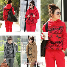 Women Winter Outwear Pullover Hooded Sport Hoodie Outfit Suits