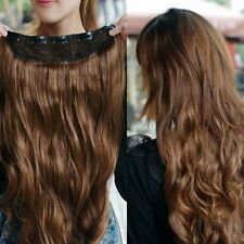 Gorgeous One Piece long curl/curly/wavy Human hair extension clip-on
