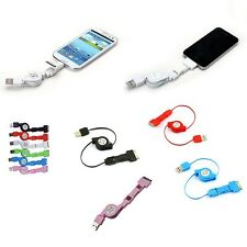 3 in 1 30 Pin Mini Micro USB Data Charger Retractable Cable For Apple Samsung LG