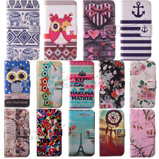 Leather For Nokia Lumia 520 N520 Wallet TPU Case Stand Cover Luxury + Film