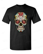 Sugar Skull roses eyes Day of the Dead T-SHIRT Mexican Gothic Los Muertos tee