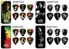 Dunlop Bob Marley Pick Tin - 6 Picks in tin with Choice of  4 Designs