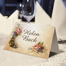 VICTORIANA VINTAGE PLACE NAME CARDS - PERSONALISED OR BLANK