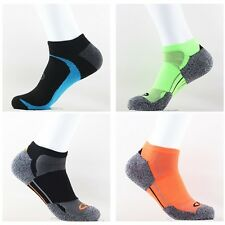 2 pairs 2 colors cotton men's low cut Thick Sports socks Size :9-11& 10-12