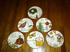 Williams Sonoma Christmas Carol Carols Salad Dessert Plates (Your Choice)
