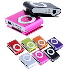1-8GB Support Micro SD TF Mini Clip Metal USB MP3 Music Media Player + earphone