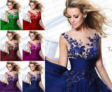 Sexy Long Formal Prom Dresses Party Bridesmaid Evening Ball Gowns Stock Sz 4-18