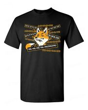 FOX ring ring ding ding funny T-SHIRT what does the Fox say commercial tee