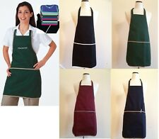 "New Bib Apron 3-Section Pockets Heavy Duty Poly/Cotton Twill  30""Lx28""W"
