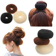 S M L Ring Shaper Styler Maker Brown Black Blonde Hairdressing Hair Donut Bun