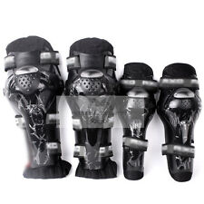 Motorcycle Racing Rider Elbow & Knee Pad Armor Guard Protective Gear Black HXd2