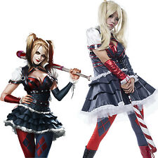 Harley Quinn Costume Arkham City Harley Quinn Cosplay Costume Sexy Dress Outfit
