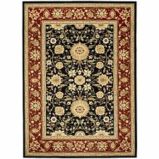 Safavieh Power Loomed Lyndhurst BLACK / RED Area Rugs - LNH212G