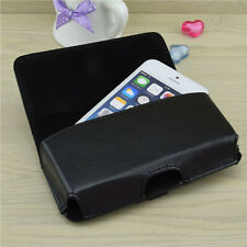 Black PU Leather Belt Clip Carrying Case Holster for Samsung Galaxy S5 S4 Note 3