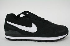 454395-004 Men's NIKE AIR WAFFLE TRAINER LEATHER BLACK/WHITE-ANTHRACITE