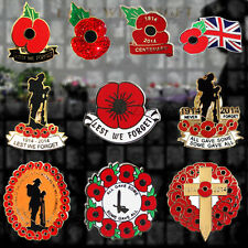 POPPY WREATH SOLDIER CROSS LAPEL PIN BADGE 100 YEARS CENTENARY REMEMBRANCE PEACE