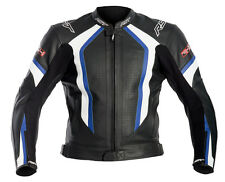 RST R-14 BLUE/BLACK Leather Motorbike/Motorcycle Cheap Sports Jacket 38-54