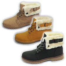 WOMENS COMBAT GRIP SOLE LINED HI HIGH TOPS LADIES ANKLE DESERT HIKING BOOTS