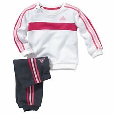 adidas  Baby Brushed Fleece Tracksuit Pink  navy 9 - 12 months BNWT