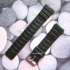 18mm 20mm Fitting Black Casio Type Divers Rubber Resin PVC Watch Strap Band