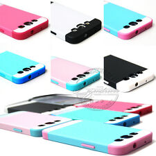 NEW HYBRID SHOCK PROOF SILICONE GEL CASE COVER FOR SAMSUNG GALAXY S3 S4 W/ FILM