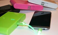 20000MAH DUAL USB POWER BANK! FAST SHIPPING! CHOOSE YOUR COLOR! GREAT FOR TRAVEL