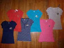 NFL Fan Womans Short Sleeve Henley Tees Tops SEXY -CHOOSE team, color & size NEW