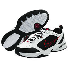 NEW MENS NIKE AIR MONARCH IV WHITE/BLACK/RED RUNNING TRAINING SHOES SIZE