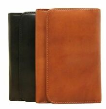 Tony Perotti Italian Leather Trifold Clutch Wallet w/ ID and Coin Pouch