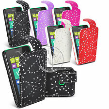 BLING DIAMOND LEATHER CASE FLIP CASE COVER POUCH FOR NOKIA LUMIA 530