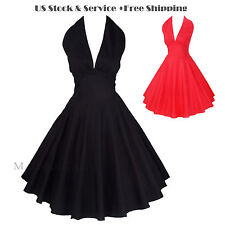 Maggie Tang 50s VTG Rockabilly Marilyn Pinup Cos Party Swing Dress Style-504