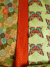 Patchwork Fabric,100% Cotton,Butterflies,Ornaments,Circles,Flowers,fabric