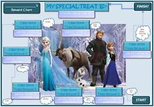 REUSABLE DISNEY'S FROZEN REWARD CHART/POTTY TRAINING INC STICKERS & PEN