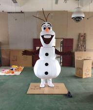 Disney Mascot Snowman Frozen Olaf Outfit Suit Snow Man Halloween Cosplay Costume