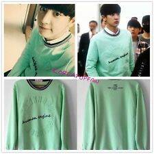 EXO CHAN YEOL CHANYEOL GREEN WHITE HOODIE JUMPER SWEATER KPOP NEW