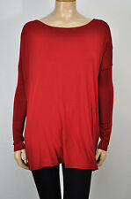 NEW Piko bamboo top shirt long sleeve WINE RED gorgeous HOT SELLER THIS FALL!