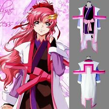 New GUNDAM SEED Destiny Lacus Clyne Captain Uniform Anime Cosplay Costume Ver.2