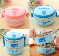 Pink&blue Stainless Steel Thermal Insulation Lovely Lunch Box Food Container