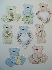 3D Paper Piecing CHOICE -780 Teddy Bear Baby Boy Girl Rattle Heart Embellishment