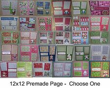 """""""Christmas""""-SET 5 - Premade Page 12x12-Choose One-Just Add Pics!"""