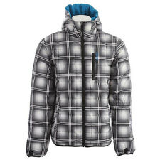 Burton Groton Down Snowboard Jacket True Black/Ghost Plaid new size lg save$$