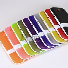 Stand Gel TPU Silicone Rubber Case Skin Cover for Samsung Galaxy S3 ,SCH-i535