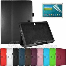 "Leather Case Cover Stand For Samsung Galaxy Tab S 10.5"" T800 + Screen Protector"