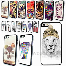 Fashion For iPhone4S 5 5S 5C Case Cover Skin Funny Animal Painted Cute Hard Back