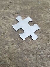 Stainless Steel Stamping Blanks NEW! Puzzle Piece Brushed Finish Blank Metal